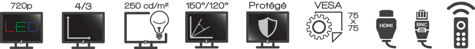 Ecran iPURE 15'' Video surveillance Protégé