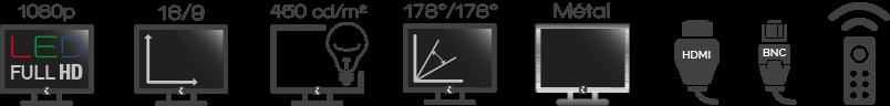 Moniteur iPURE 55'' Full HD