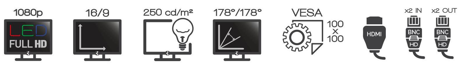 Connectiques V22 HD